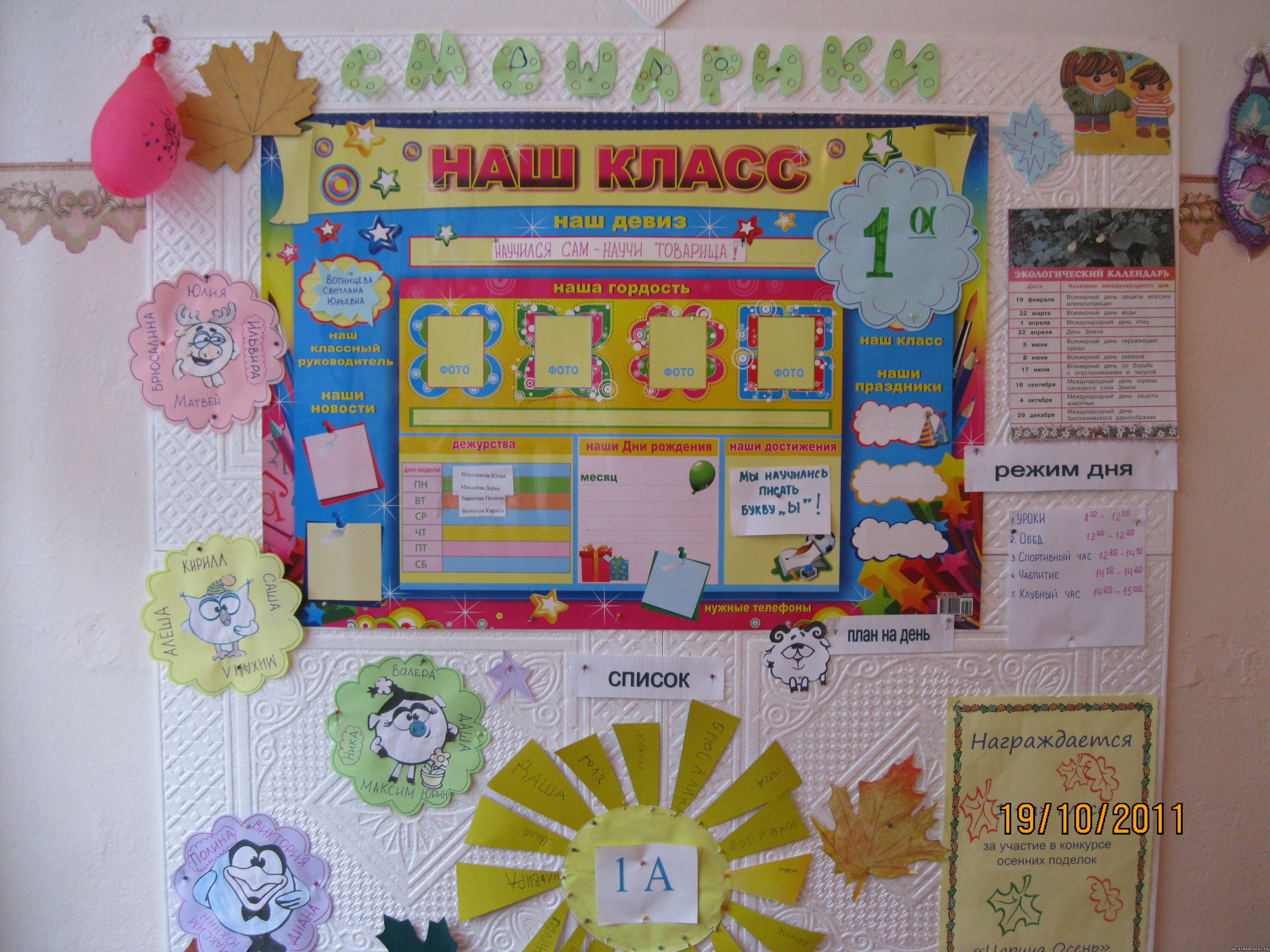 Как оформить классный уголок в начальной школе