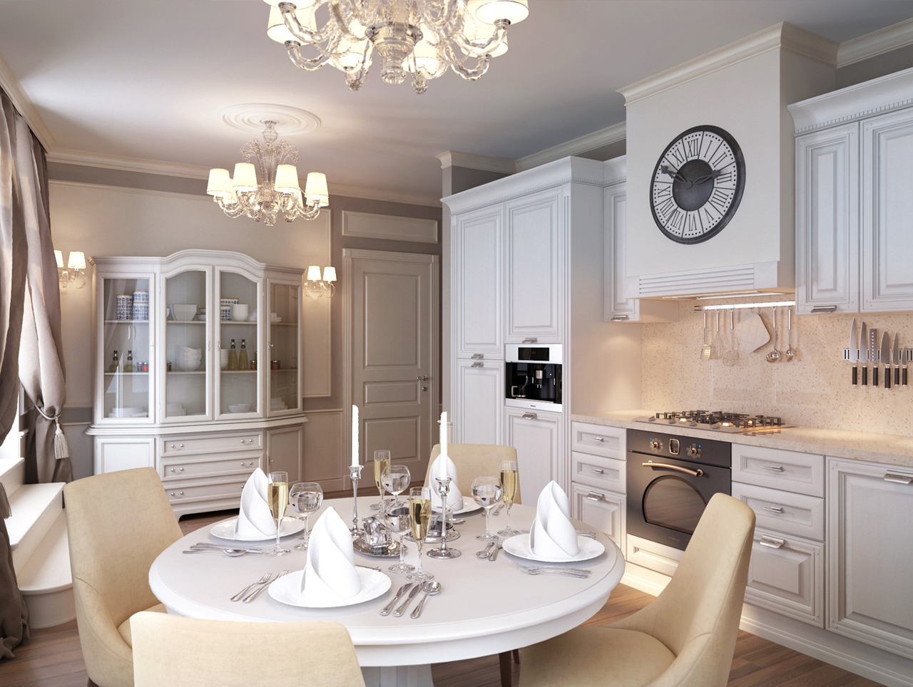 Красивый дизайн квартиры классика