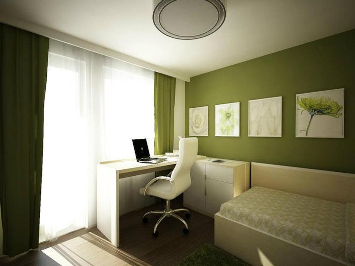"""Дизайн комнаты с балконом и окном """" современный дизайн."""