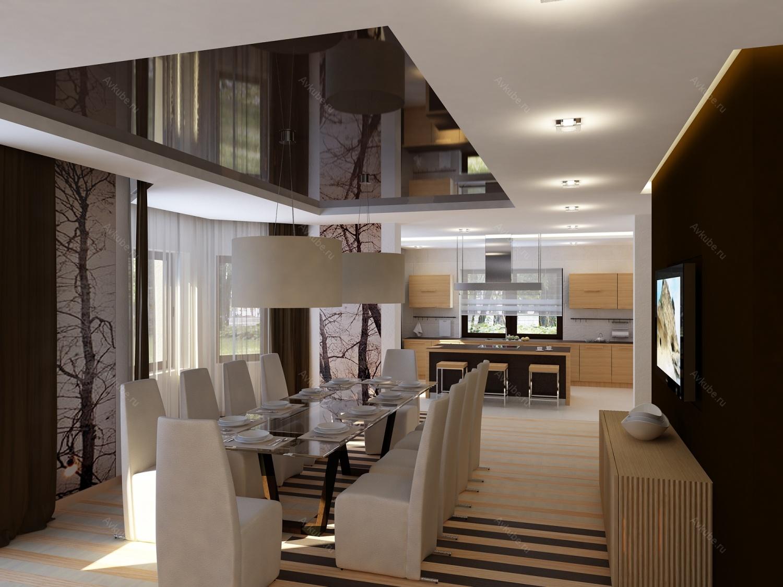 Проект дизайн интерьера коттеджей