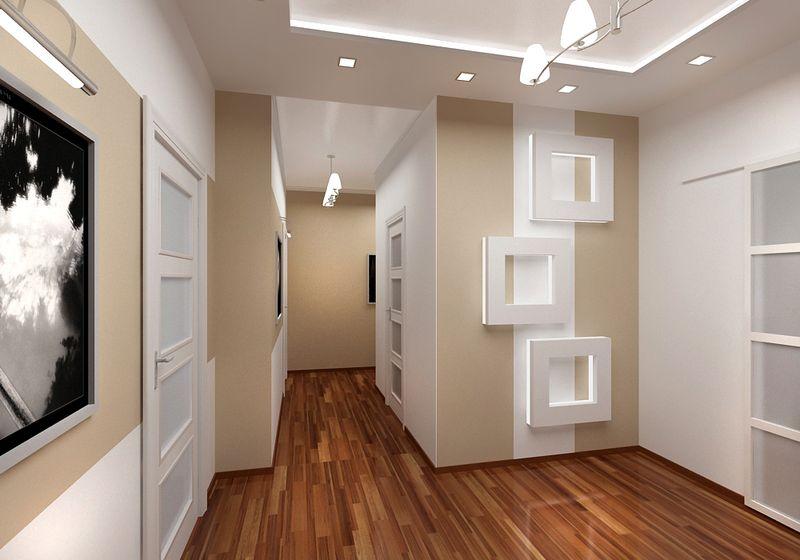 Дизайн стен в прихожей реальные