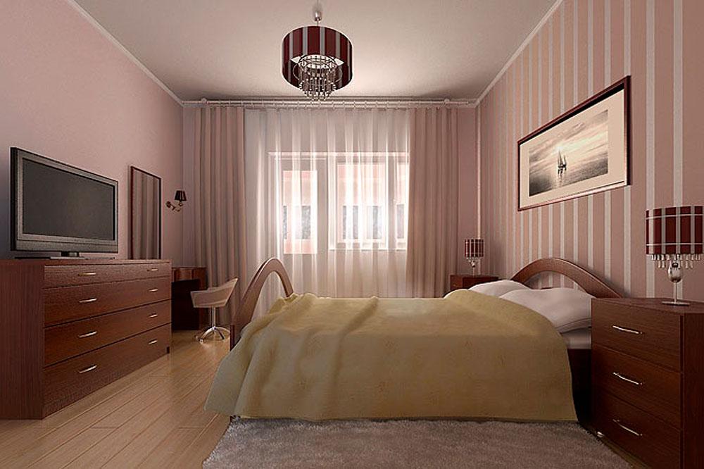 Дизайн спальни фото недорогой