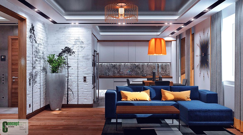 Готовые дизайн и интерьер квартиры