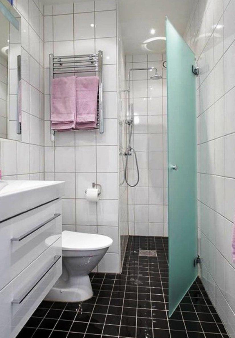Дизайн душа совмещенным с туалетом