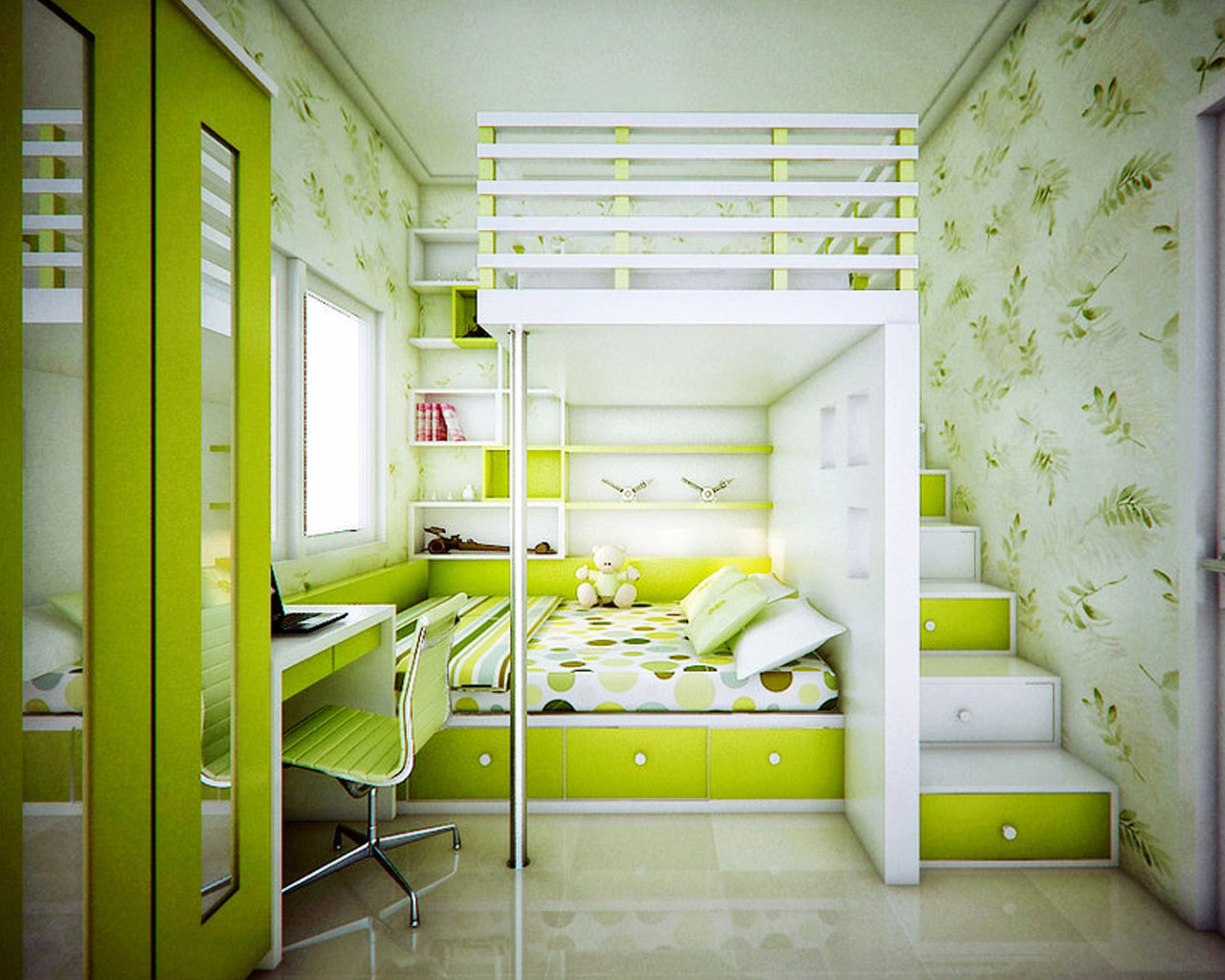 Дизайн для подростка комнаты маленького размера