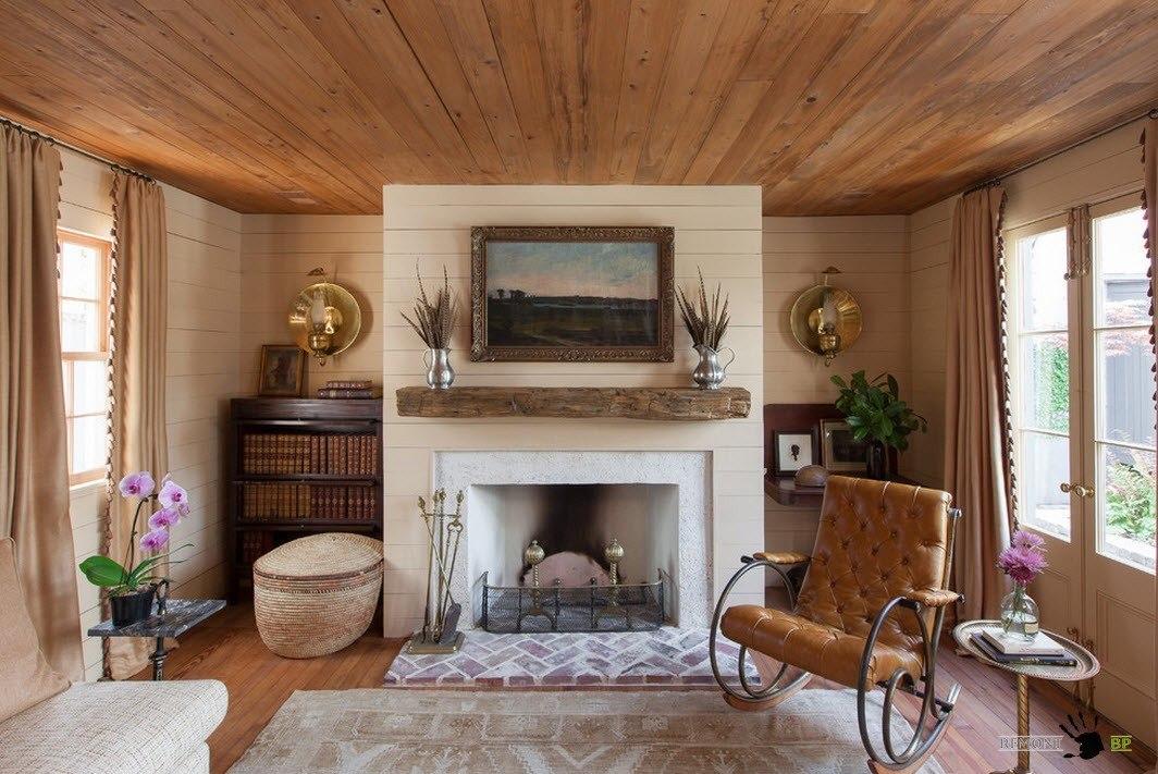 Дизайн гостиной сельского дома