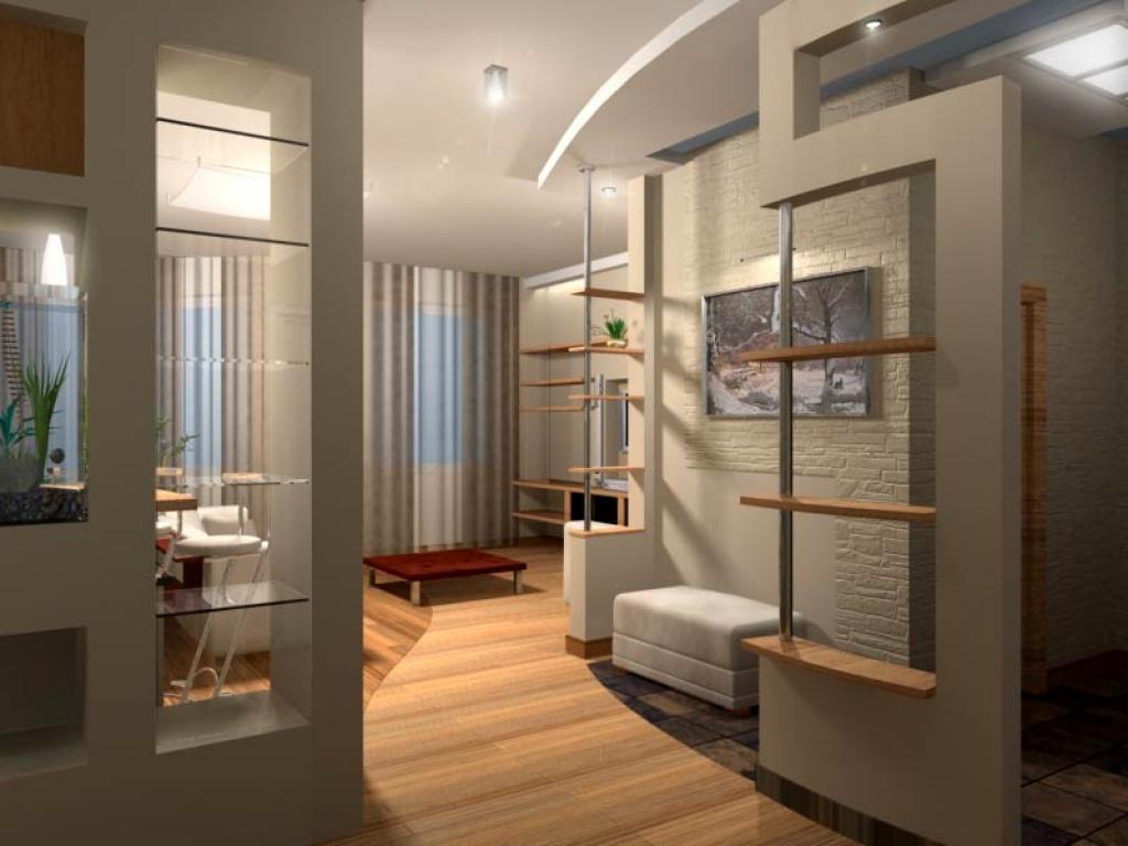 """Перепланировка однокомнатной квартиры 70 кв м """" современный ."""