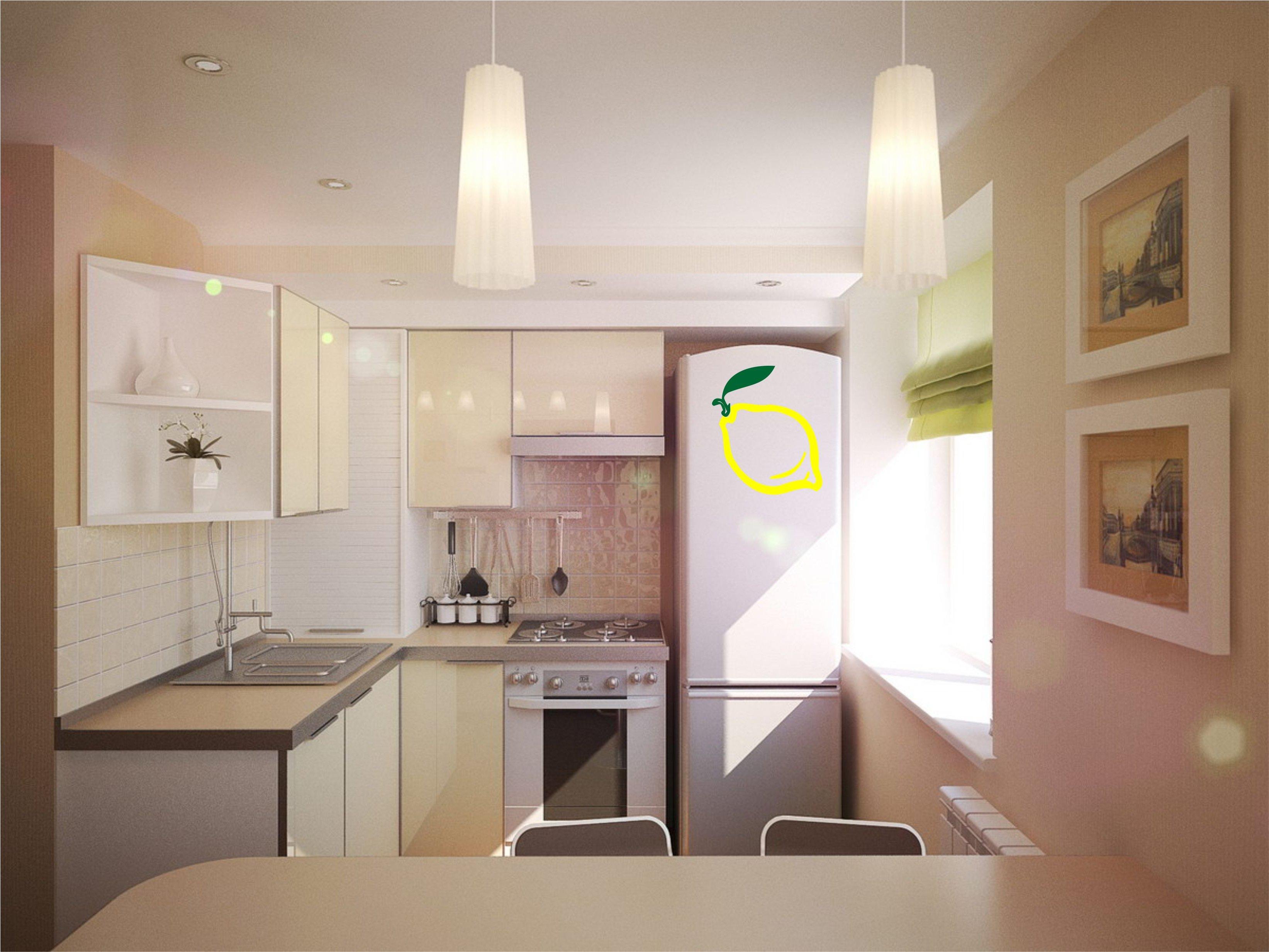 Дизайн интерьер маленьких кухонь хрущевок