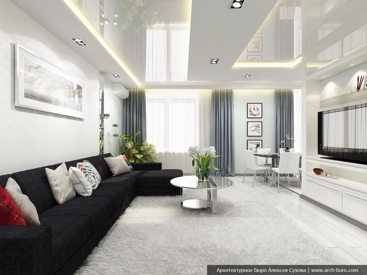 Кухня-гостиная 40 кв м дизайн в квартире