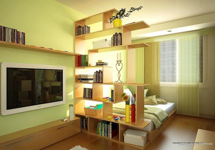 Идеи ремонта комнаты в однокомнатной квартире фото
