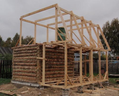 Видео как построить крышу на бане