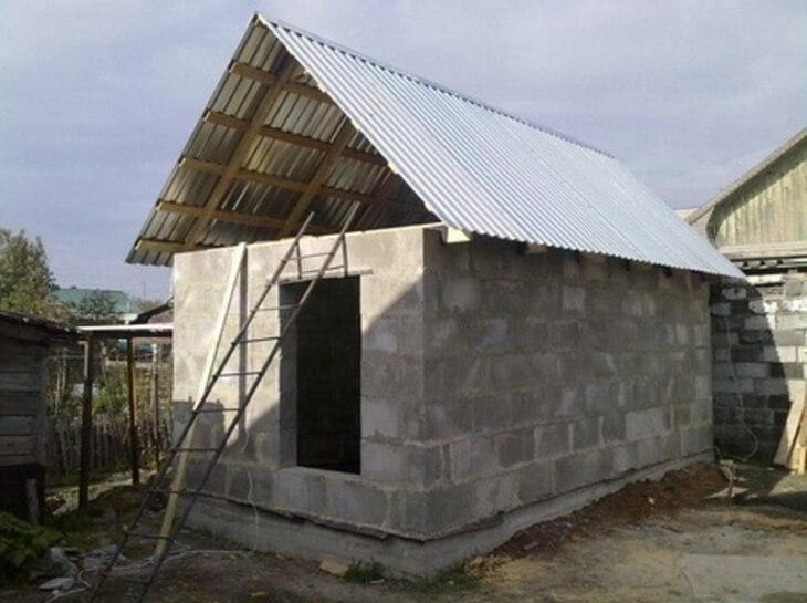 Крыша бани из пеноблоков своими руками инструкция по возведению 55