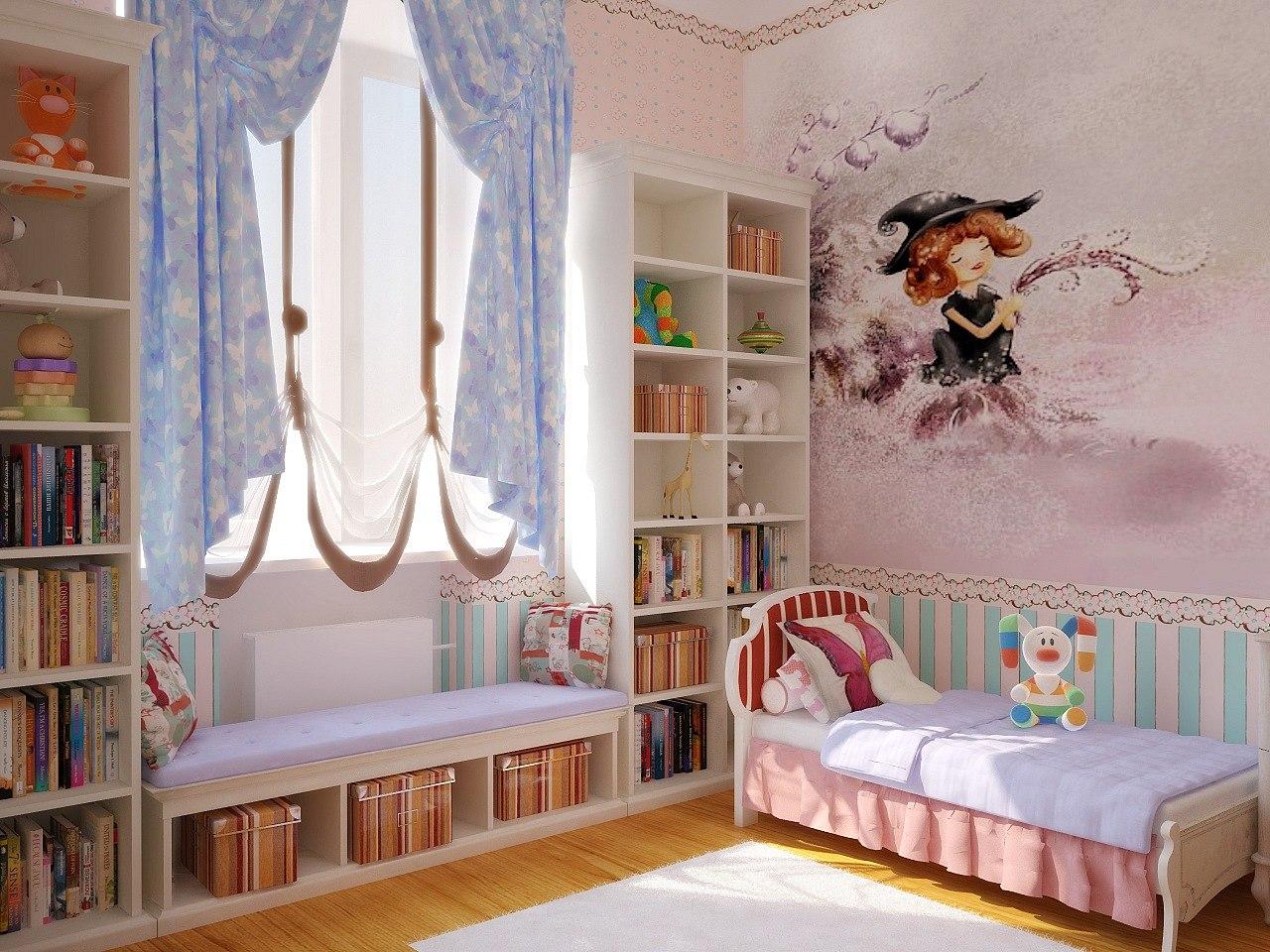 Интерьер для детской комнаты для девочек фото