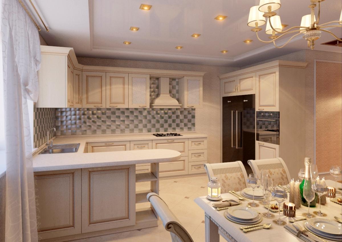 Кухня столовая гостиная студия дизайн