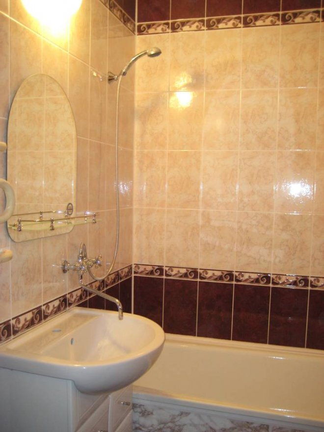 Ванные комнаты плитка дизайн эконом класса