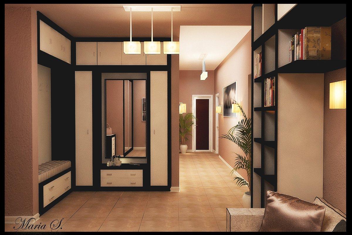 Коридор квадратный в квартире дизайн фото