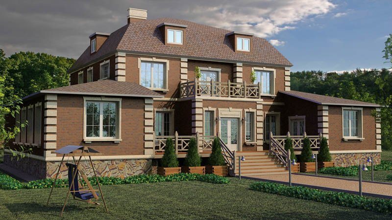 дизайн дома частного фото