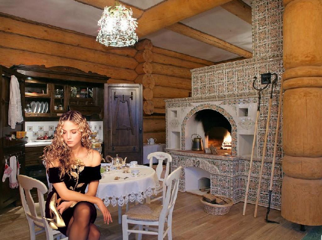Дизайн русской печи в доме