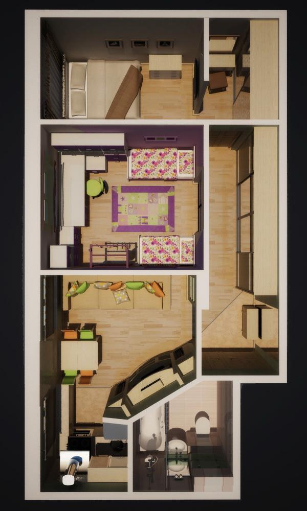 Дизайн квартир 3х комнатных хрущевка