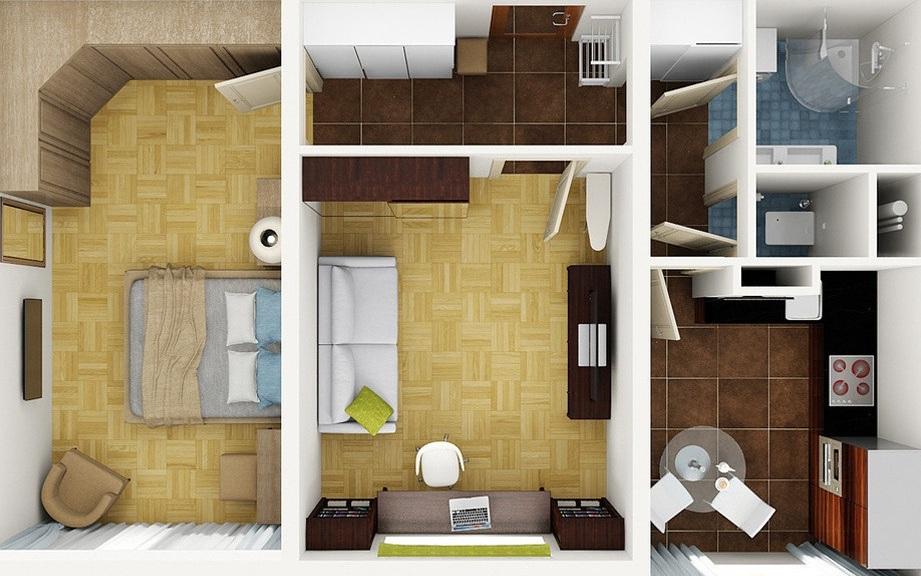 Фото дизайна проекты 2-х комнатных квартир