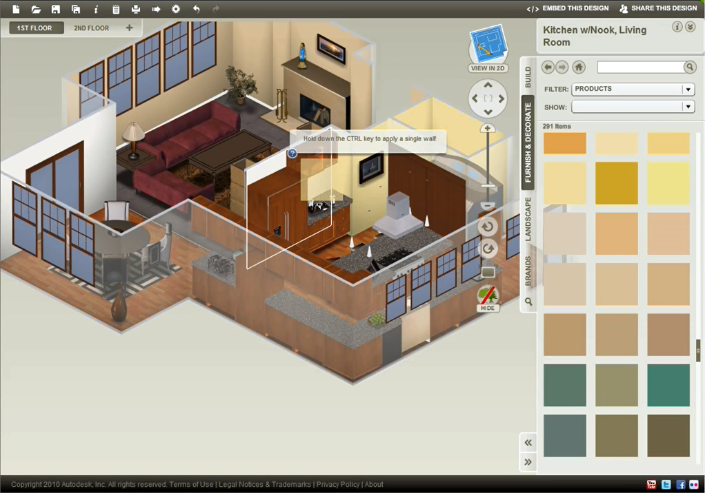 Autodesk dragonfly online 3d home design software download for Virtual home software