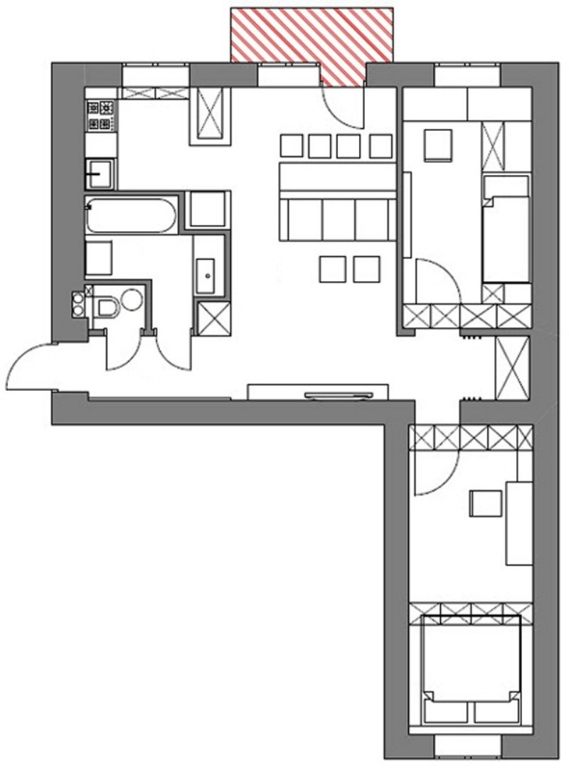 Фото дизайн хрущевки трехкомнатной квартиры