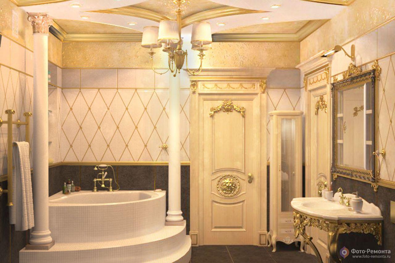 Дизайны ванн к классическом стиле