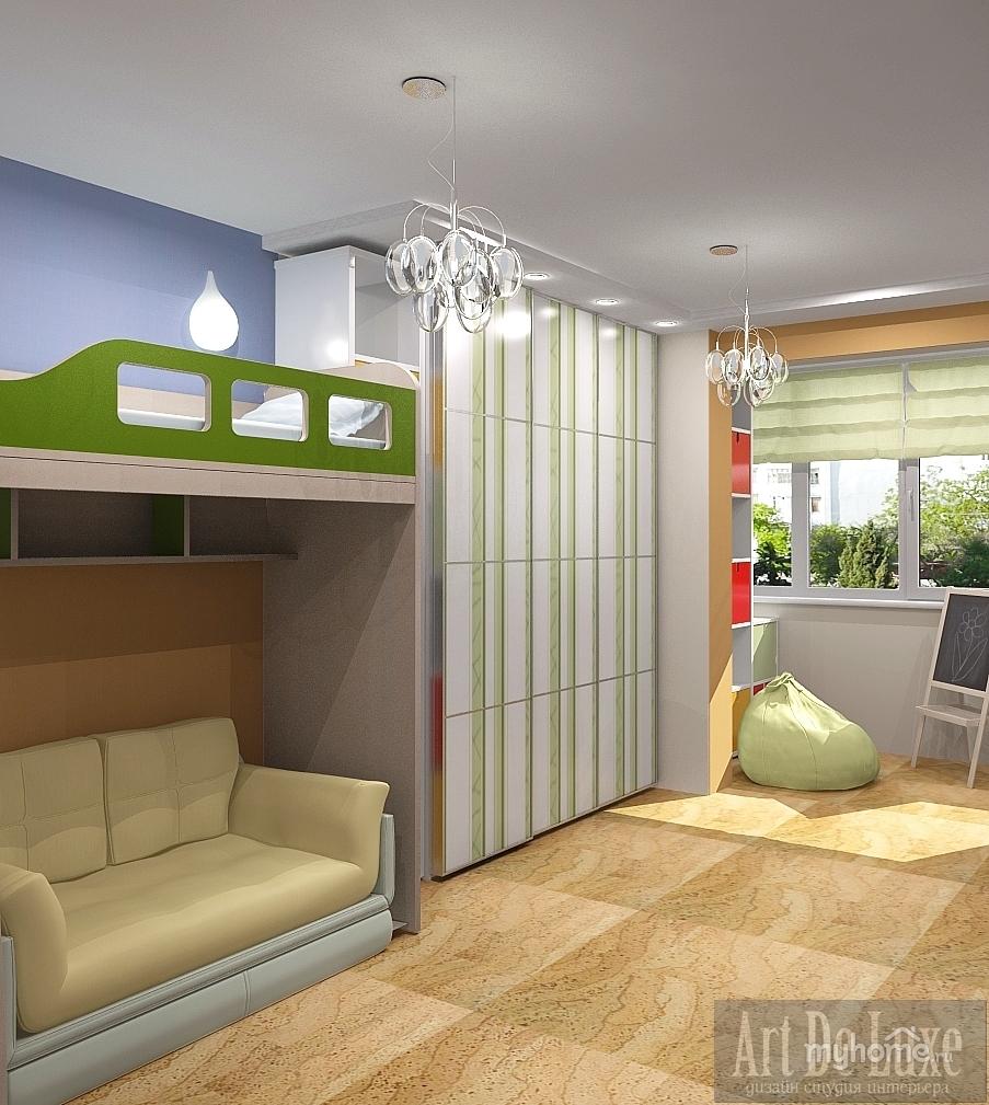 Дизайн детской комнаты соединенной с лоджией фото.