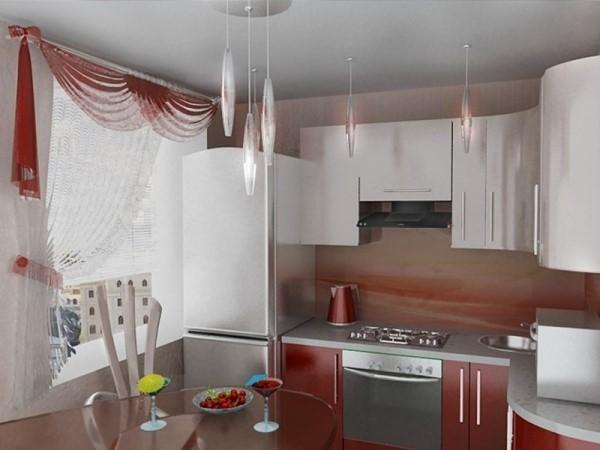 """Дизайн кухни для малогабаритной квартиры """" современный дизай."""