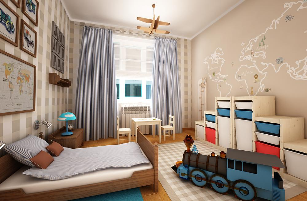 Детские комнаты для мальчиков дизайн 15