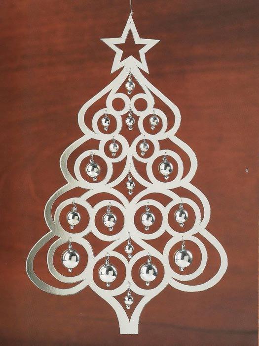 Новогоднее украшение из бумаг