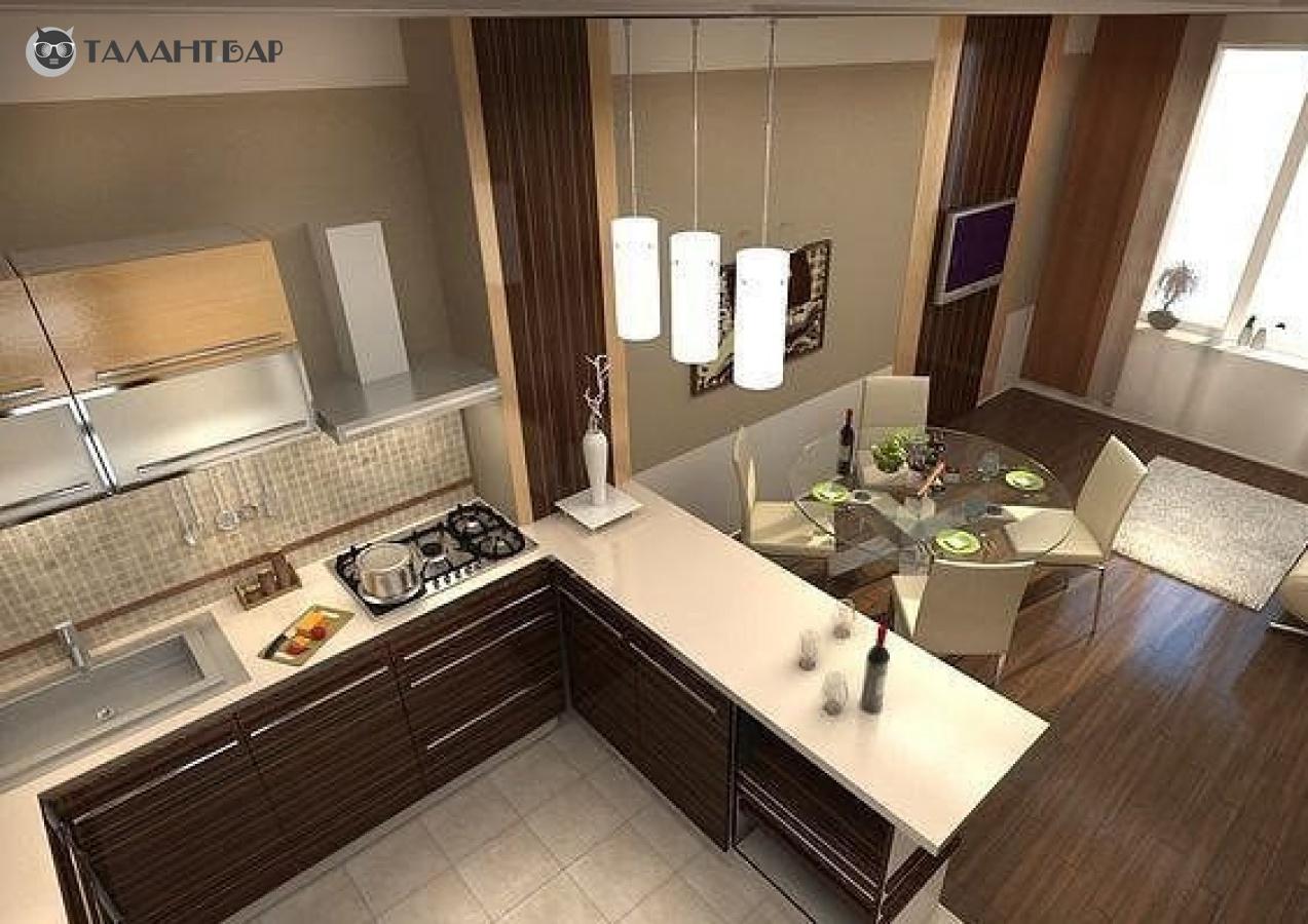 Ремонт кухня гостиная