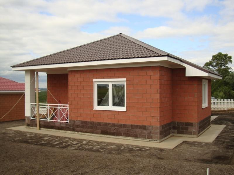 Проекты одноэтажный дом из кирпича своими руками