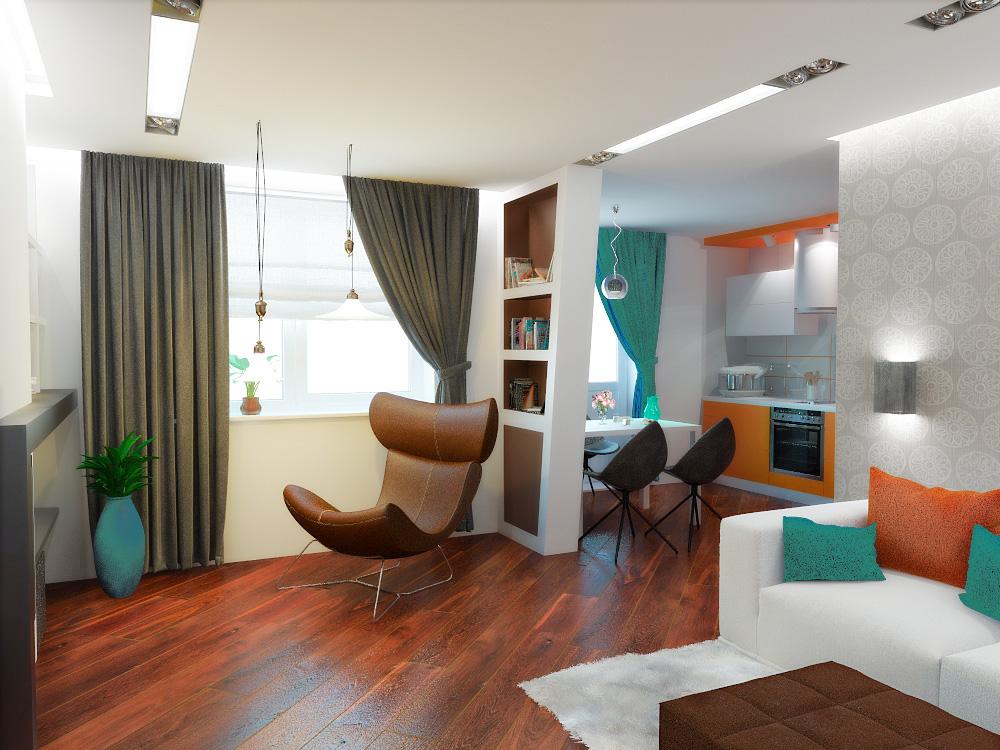 Дизайн из однокомнатной квартиры двухкомнатную.