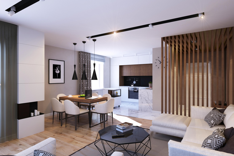 Модный интерьер однокомнатной квартиры