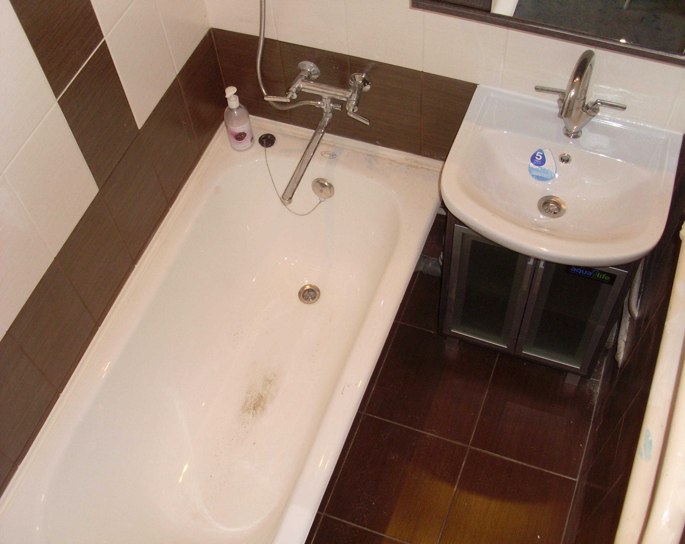 Ремонт в ванне в хрущевке своими руками фото