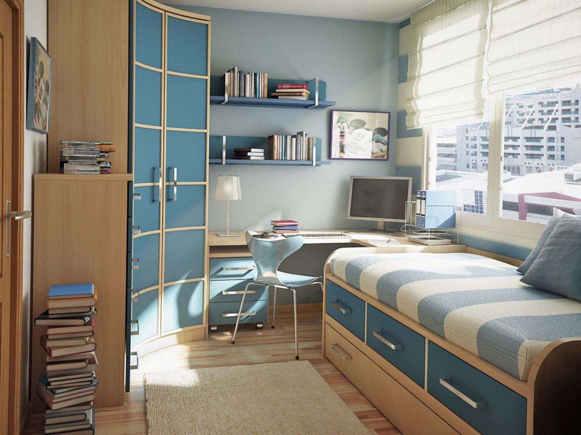 Дизайн для маленькой комнаты для мальчиков