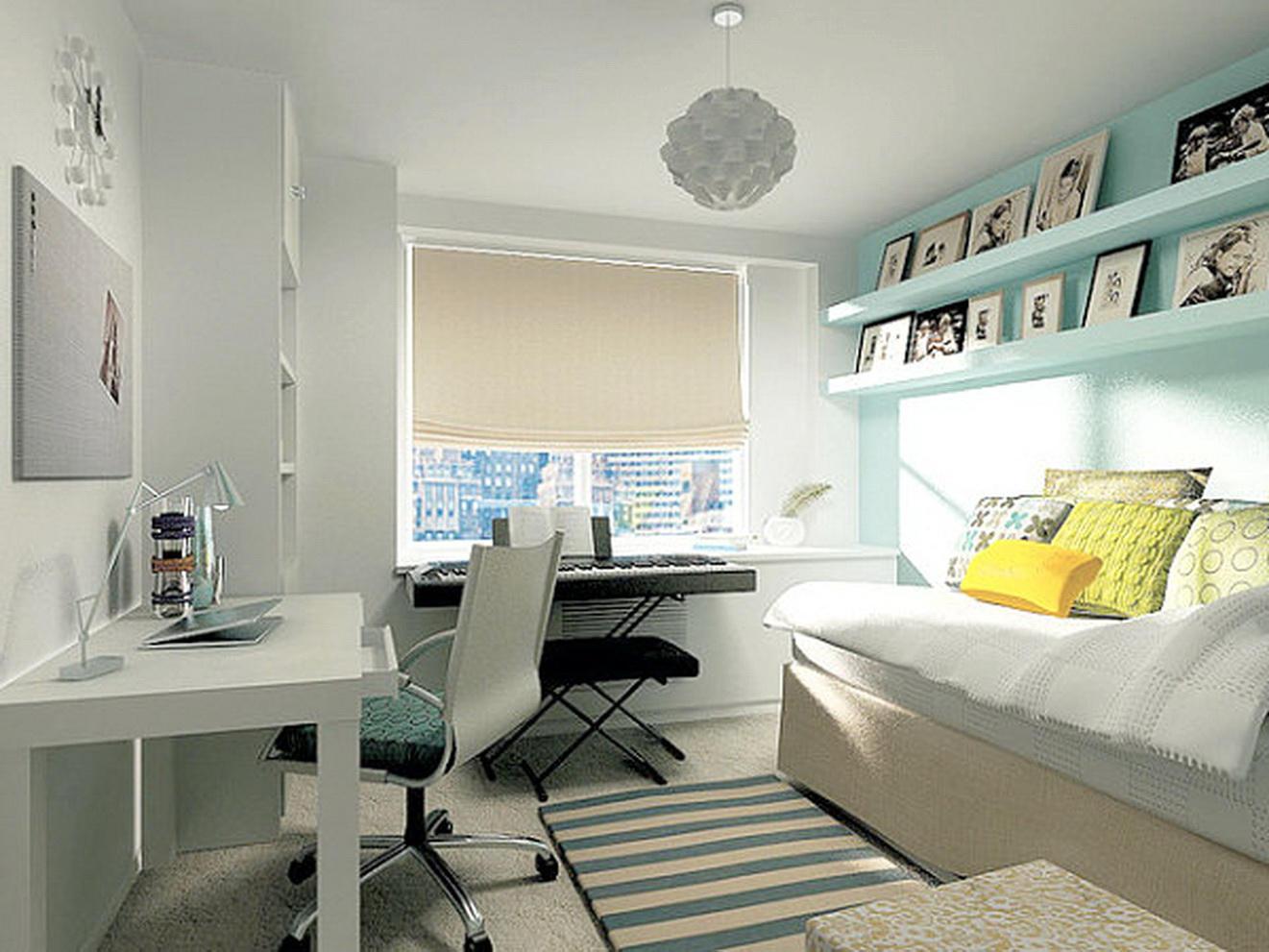 Современный дизайн маленькой комнаты для подростка