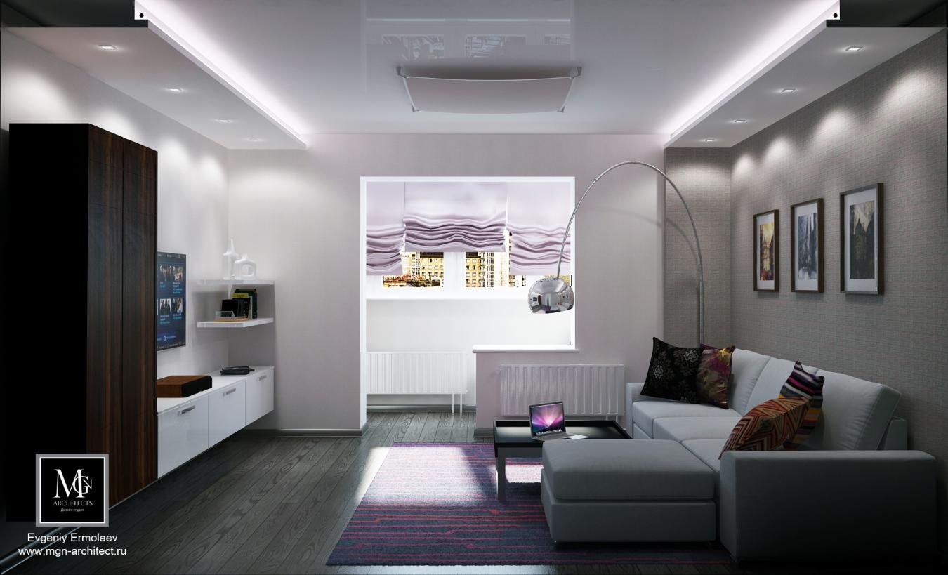 Гостиная хай тек дизайн