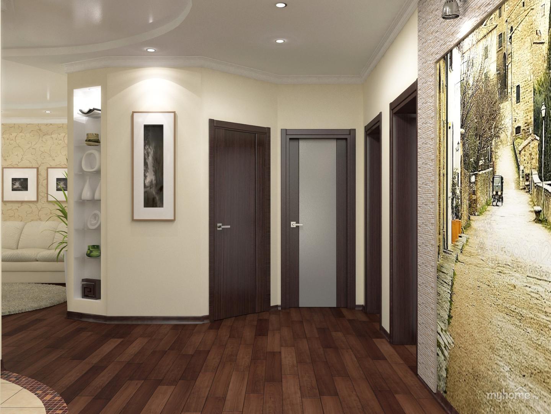 Дизайн коридора в частном доме простые решения