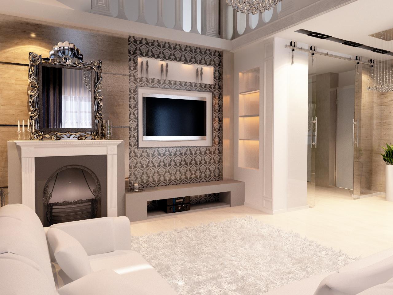 Дизайн гостиной казань