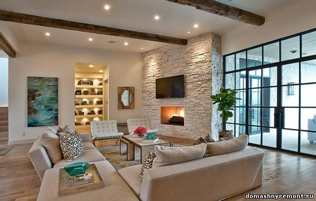 25 Brick Wall Designs Decor Ideas For Living Room Red