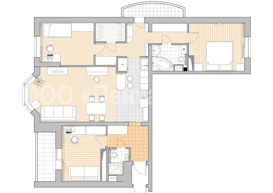 """Дизайн-проект двухкомнатной квартиры минск """" современный диз."""