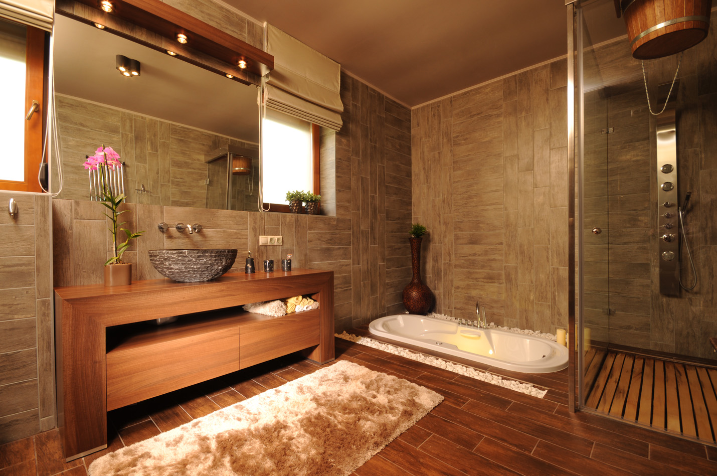 Дерево для ванной комнаты дизайн