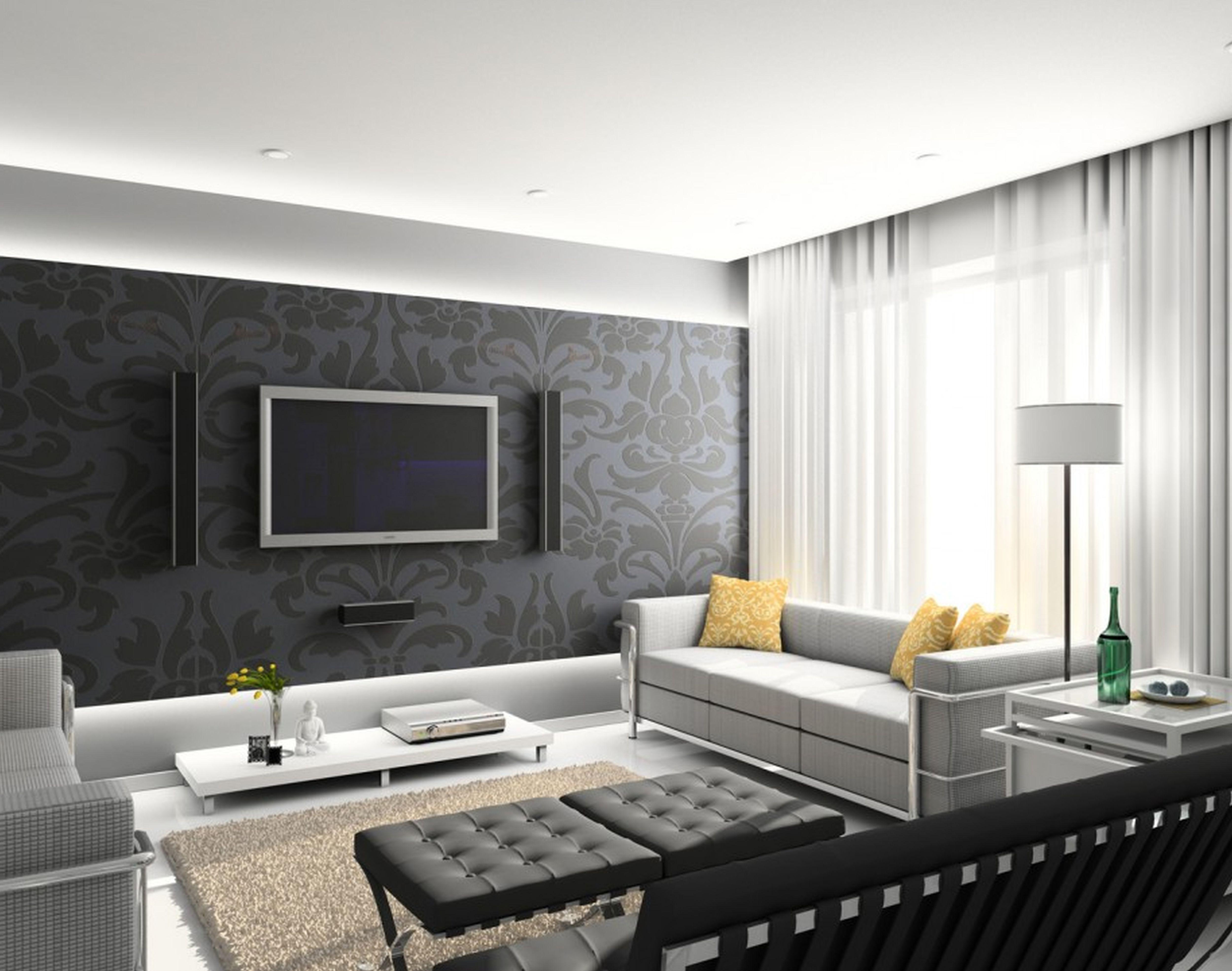 Дизайн обои гостиной фото 2015 современные идеи