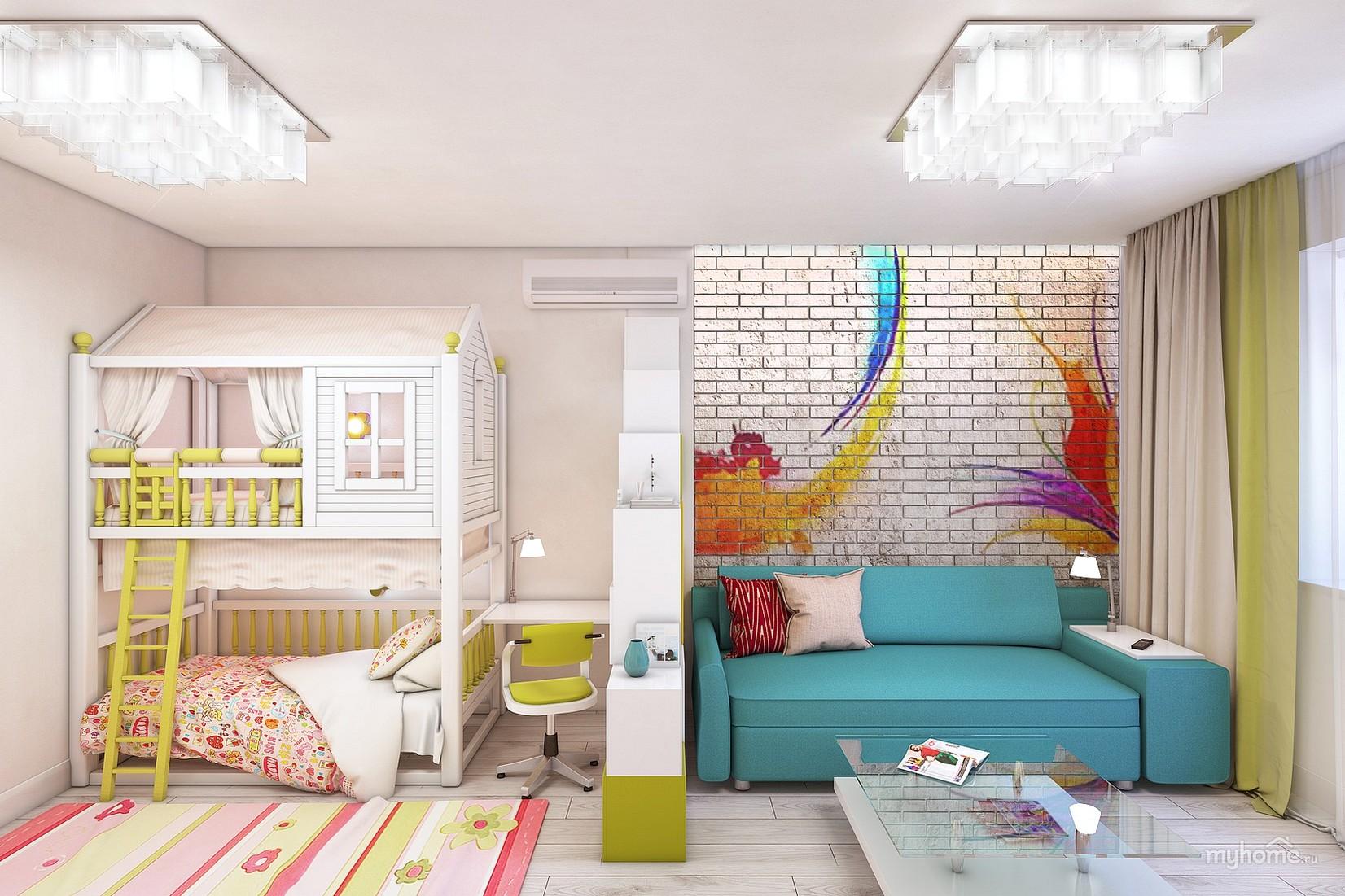 Фото как сделать из комнаты детскую и спальню