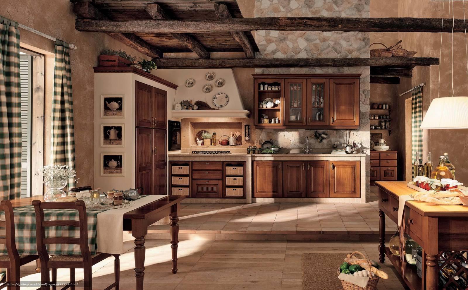 Фото дизайн интерьера кухни на даче