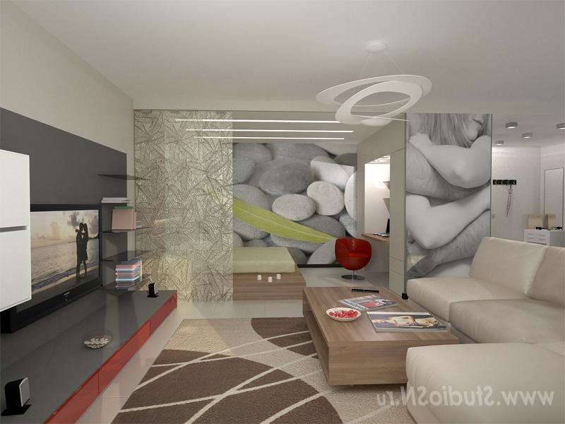 """Дизайн кухня-гостиная-спальня """" современный дизайн."""