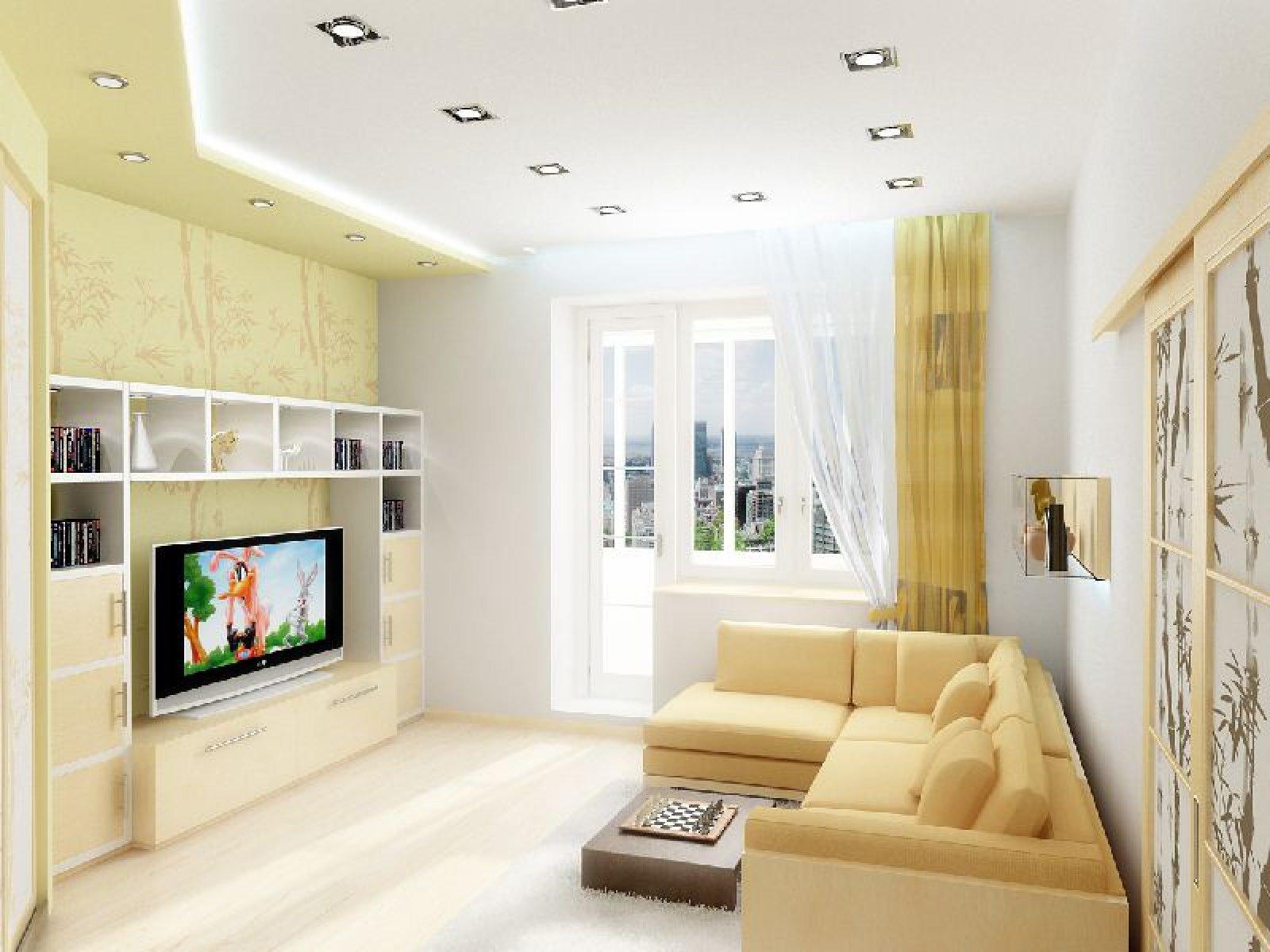 Фото дизайн проходной комнаты в брежневке