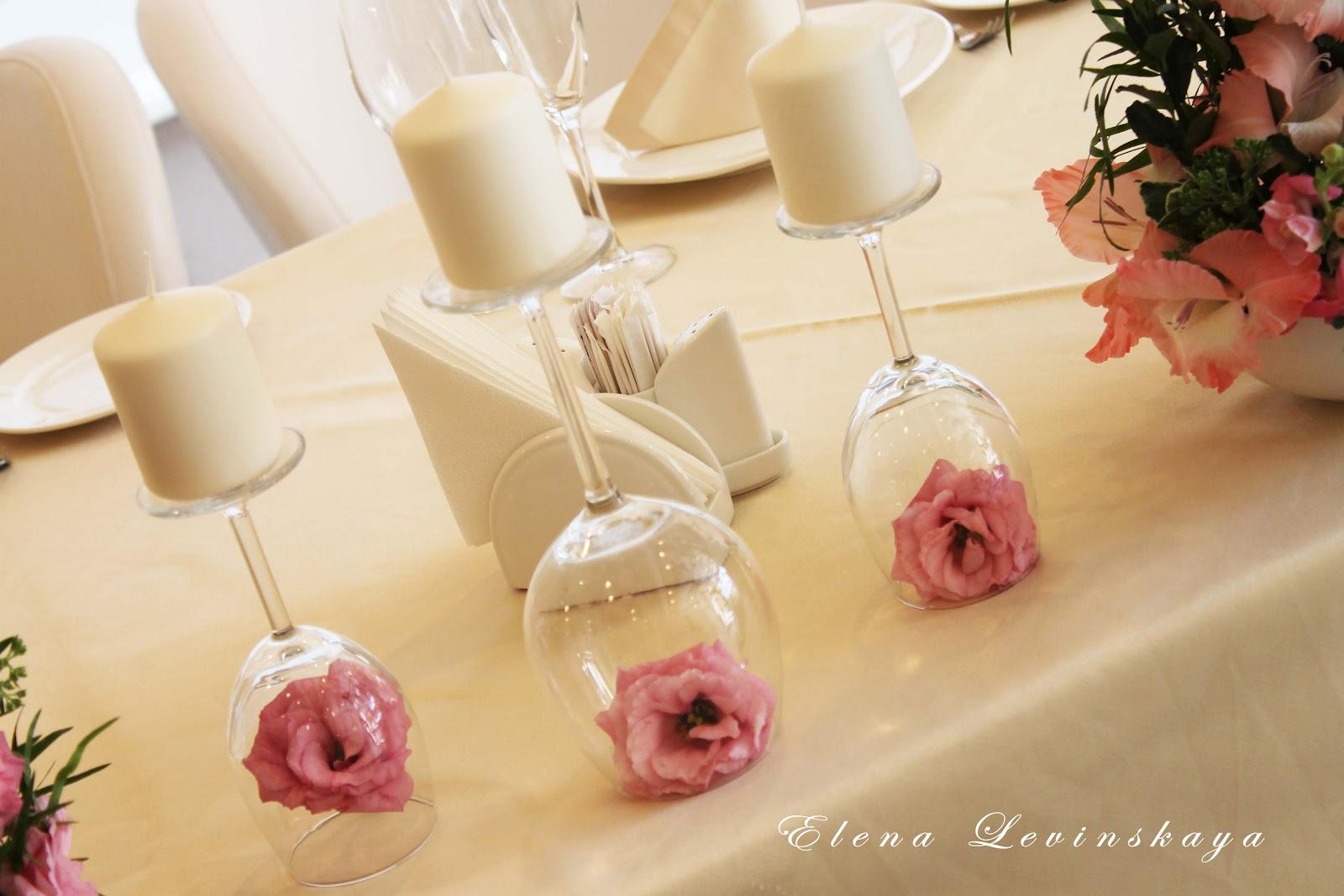 Как украсить стола на свадьбу своими руками